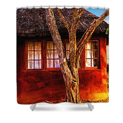 Zulu Hut Shower Curtain