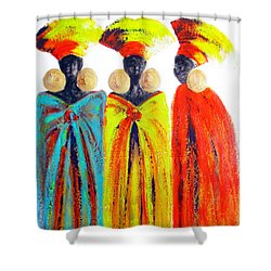 Zulu Ladies Shower Curtain