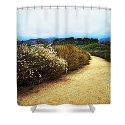 Zuma Beach Pathway Shower Curtain