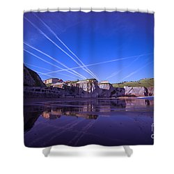 Zumaia Shower Curtain by Mariusz Czajkowski