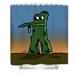 Zumby Shower Curtain