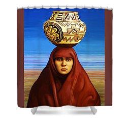 Zuni Woman Shower Curtain by Jane Whiting Chrzanoska