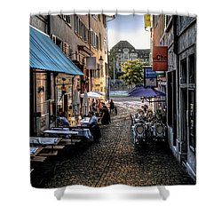 Zurich Old Town Cafe Shower Curtain