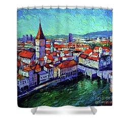 Zurich View Shower Curtain