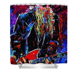 Zz Top Billie Gibbons Shower Curtain by Debra Hurd
