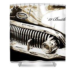 1951 Buick Super, Digital Art Shower Curtain