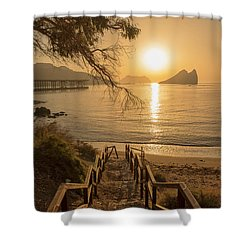 Access To The Beach At Dawn Shower Curtain