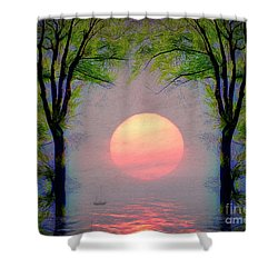 Shower Curtain featuring the digital art A New Day by Edmund Nagele