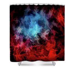 Abstract 53 Shower Curtain