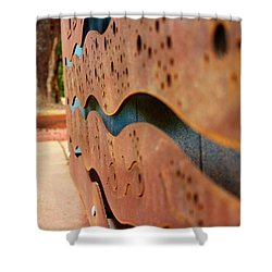 1 Abstract Lake Patricia Sign 3 Shower Curtain