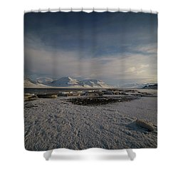 Adventfjorden Shower Curtain