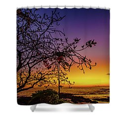 After Sunset Colors Shower Curtain
