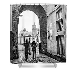 Shower Curtain featuring the photograph Arch Of The Rose Cadiz Spain by Pablo Avanzini