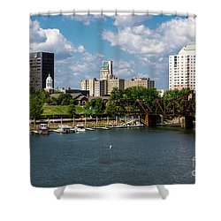 Augusta Ga - Savannah River Shower Curtain