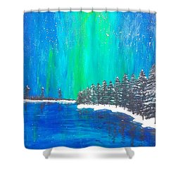 Shower Curtain featuring the painting Aurora  by Jennah Lenae