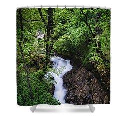 Bela River, Balkan Mountain Shower Curtain