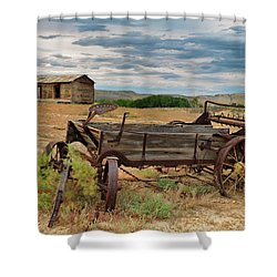 Bighorn Basin History Shower Curtain