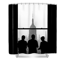 Careful Observation Shower Curtain
