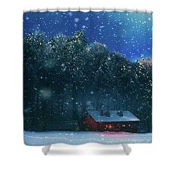 Shower Curtain featuring the photograph Chalet by Okan YILMAZ