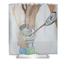 Clipping Hooves Shower Curtain
