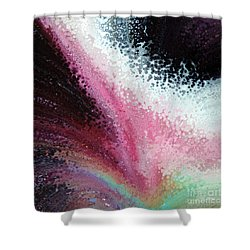 Shower Curtain featuring the painting 1 Corinthians 16 14. With Love by Mark Lawrence
