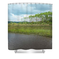 Shower Curtain featuring the photograph Florida Marshland by John M Bailey