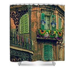 French Quarter Mardi Gras Decorations Shower Curtain