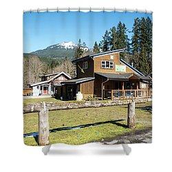 Glacier Coffee Shop Shower Curtain