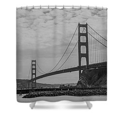 Shower Curtain featuring the photograph Golden Gate Bridge by Stuart Manning