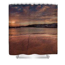 Harbour Sunset - St Ives Cornwall Shower Curtain