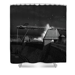 Shower Curtain featuring the photograph Hopgood's Last Run Black And White Version by Gary Eason
