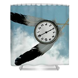How Time Flies Shower Curtain