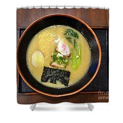 Japanese Miso Noodle Soup Shower Curtain
