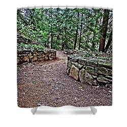 Just Around The Bend Shower Curtain