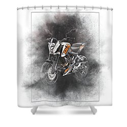 Ktm Duke 200 Painting Shower Curtain