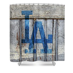La Dodgers Shower Curtain