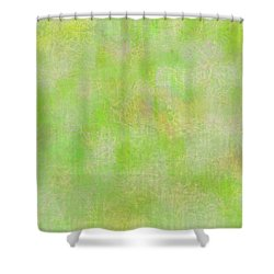Lime Batik Print Shower Curtain