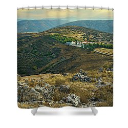 Monastery Agion Anargiron Above Argos Shower Curtain