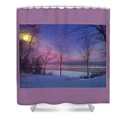 Moonset Shower Curtain