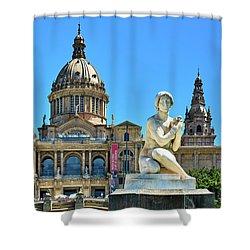 Shower Curtain featuring the photograph National Art Museum In Barcelona by Eduardo Jose Accorinti