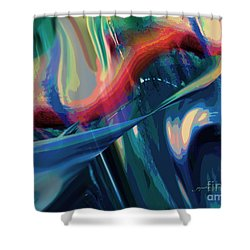 On My Way Shower Curtain