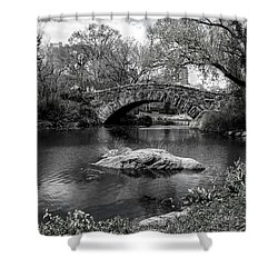 Shower Curtain featuring the photograph Park Bridge by Stuart Manning