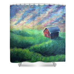 Shower Curtain featuring the painting Peace by Lisa DuBois