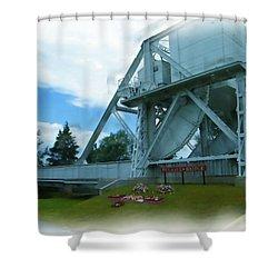 Pegasus Bridge Shower Curtain