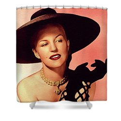 Peggy Lee Music Legend Shower Curtain