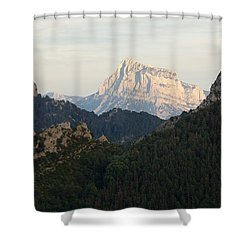 Shower Curtain featuring the photograph Pena Montanesa by Stephen Taylor