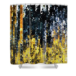 Shower Curtain featuring the painting 1 Peter 1 7. Tested By Fire by Mark Lawrence