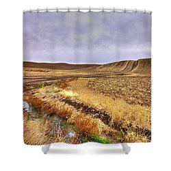 Shower Curtain featuring the photograph Plowed Under by David Patterson
