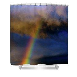 Rainbow During Sunset Shower Curtain