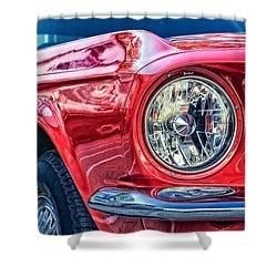 Red Vintage Car Shower Curtain